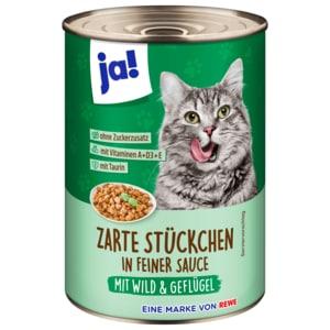 ja! Katzenfutter mit Wild, Geflügel & Karotten 415g