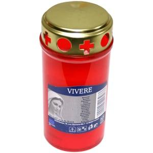 Vivere Grablicht mit Deckel rot 1 Stück