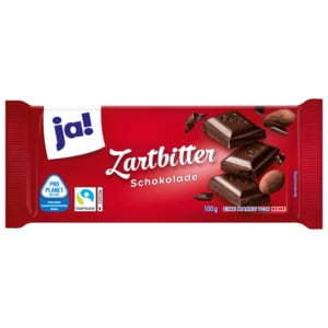 ja! Zartbitter-Schokolade 100g