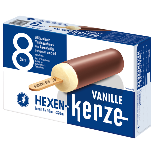 Hexen-Kerze Vanille 8x40ml