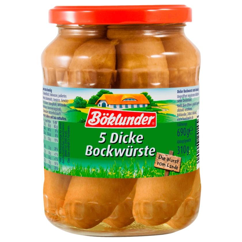 Böklunder Dicke Bockwürste im Schweinedarm 310g, 5 Stück