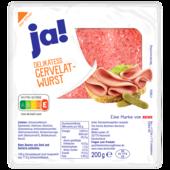 ja! Delikatess-Cervelatwurst 200g