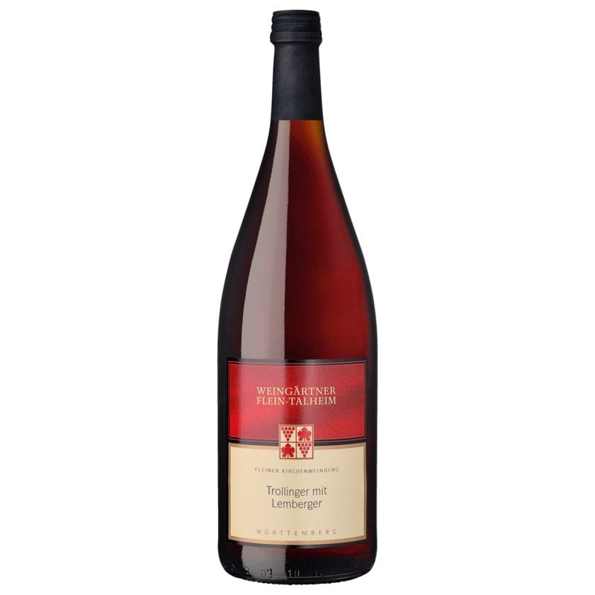 Weingärtner Flein-Talheim Rotwein Trollinger mit Lemberger halbtrocken 1l