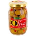 Feinkost Dittmann Oliva Manzanilla-Oliven mit Paprika gefüllt 200g