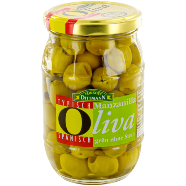 Feinkost Dittmann Oliva spanische Manzanilla-Oliven grün 175g