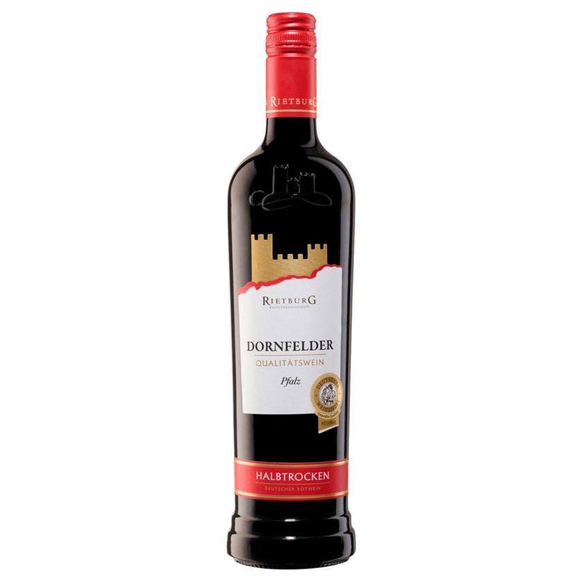 Rietburger Rotwein Dornfelder QbA halbtrocken 0,75l