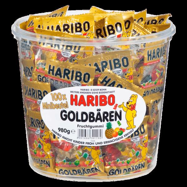 Haribo Goldbären Minibeutel 100x9,8g, 980g