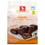 Weiss Lebkuchen-Herzen Zartbitter 300g