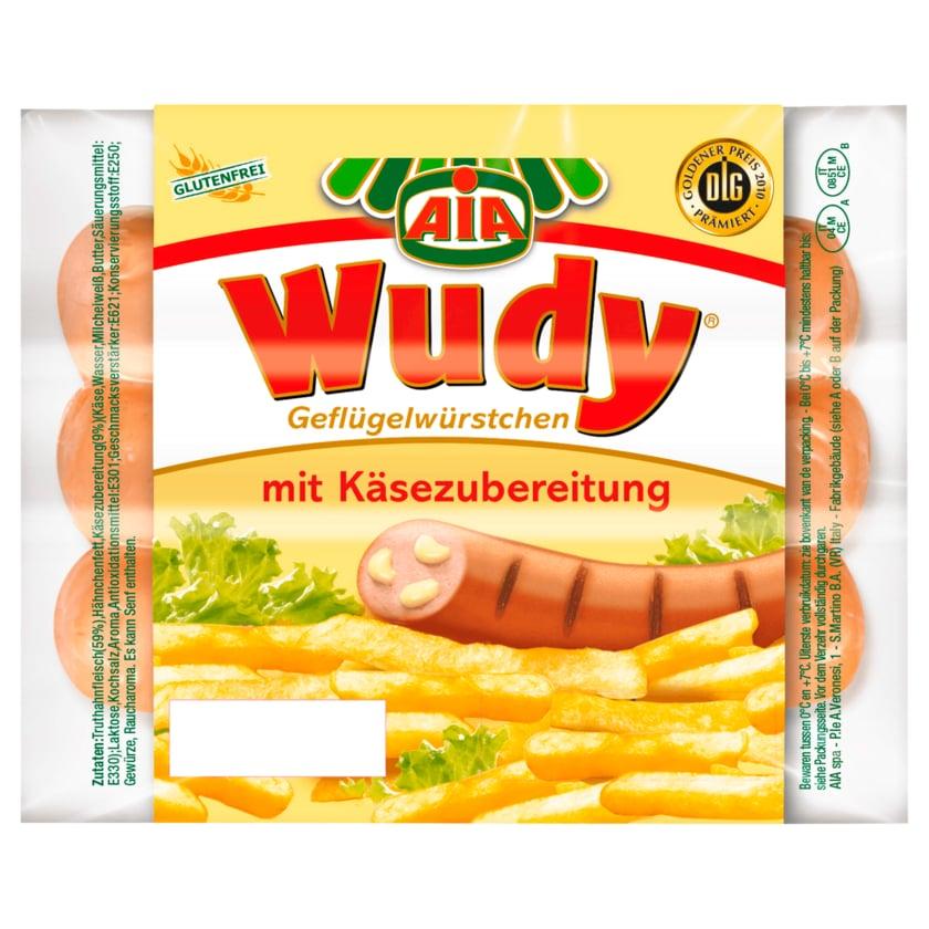 Aia Wudy Geflügelwürstchen mit Käsezubereitung 150g