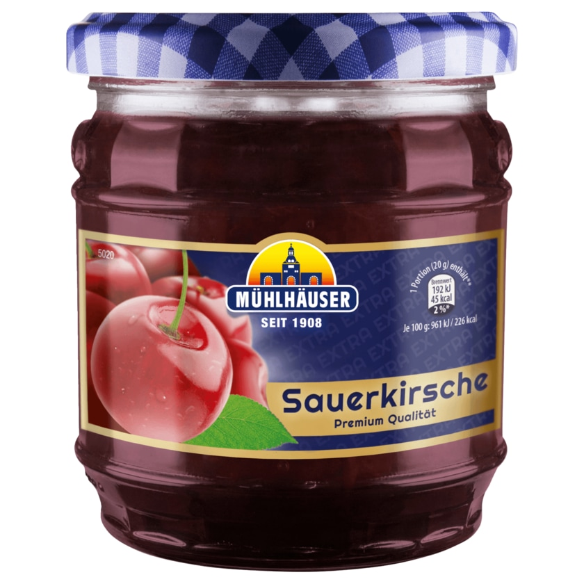 Mühlhäuser Sauerkirsche Konfitüre 450g