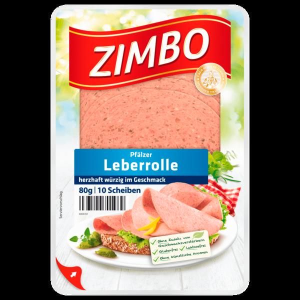 Zimbo Pfälzer Leberrolle herzhaft würzig 80g