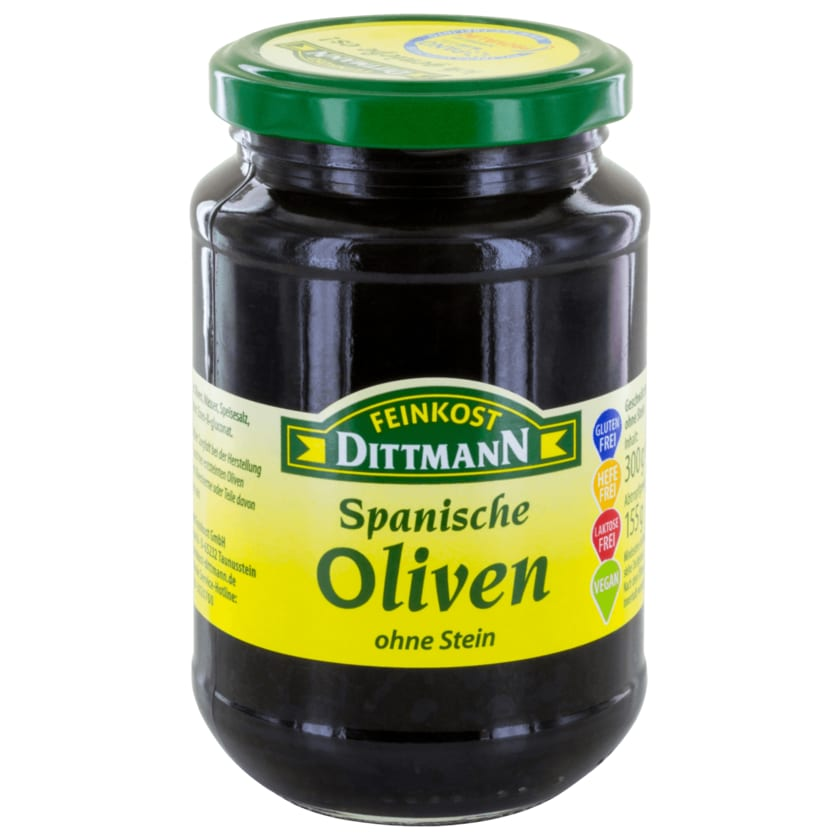 Feinkost Dittmann Spanische Oliven schwarz 155g