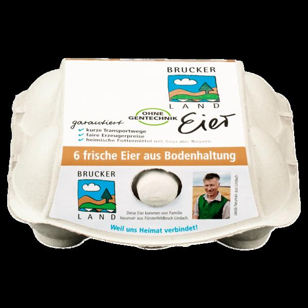 Brucker Land Eier Bodenhaltung 6 Stück