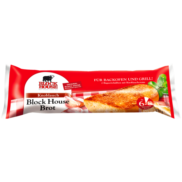 Block House Brot Knoblauch 250g