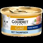 Gourmet Katzenfutter Gold Feine Pastete mit Thunfisch 85g
