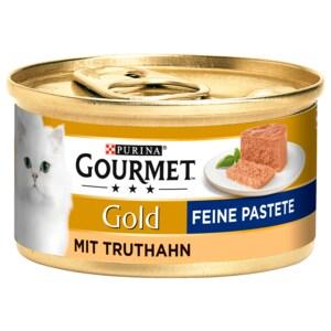 Gourmet Katzenfutter Gold Feine Pastete mit Truthahn 85g