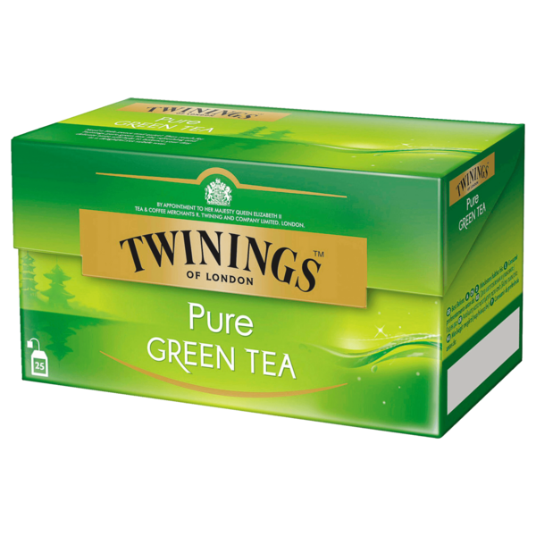Twinings Pure Green Tea 50g, 25 Stück