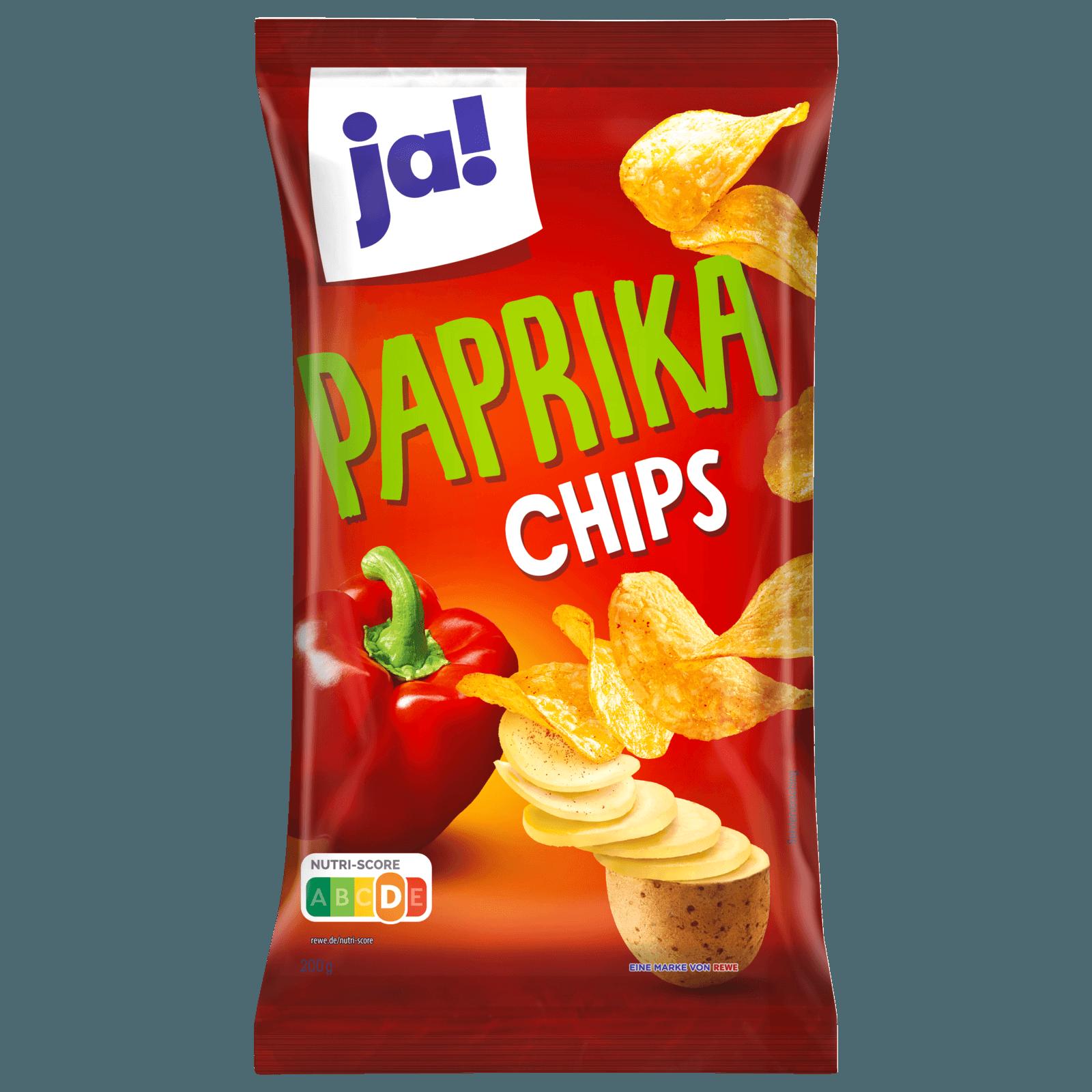 ja! Kartoffel-Chips mit Paprika 200g