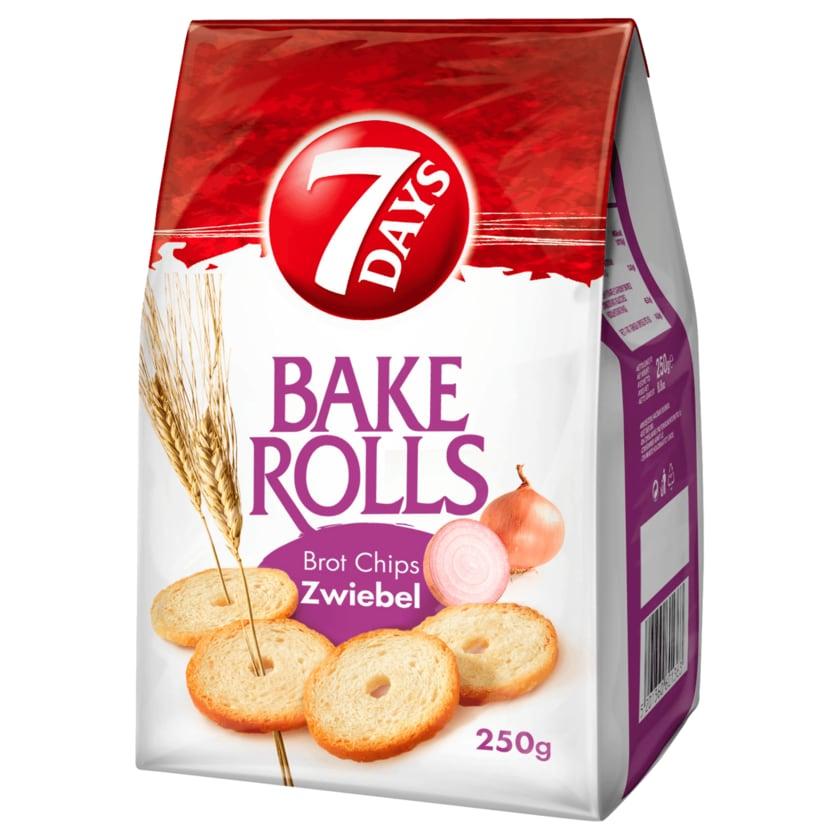 7 Days Bake Rolls Brot Chips Zwiebel 250g