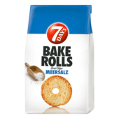 7 Days Bake Rolls Brot Chips Meersalz 250g