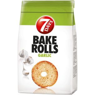 7 Days Bake Rolls Brot Chips Knoblauch 250g