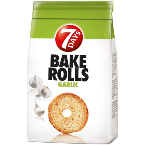 7 Days Bake Rolls Brot Chips Knoblauch