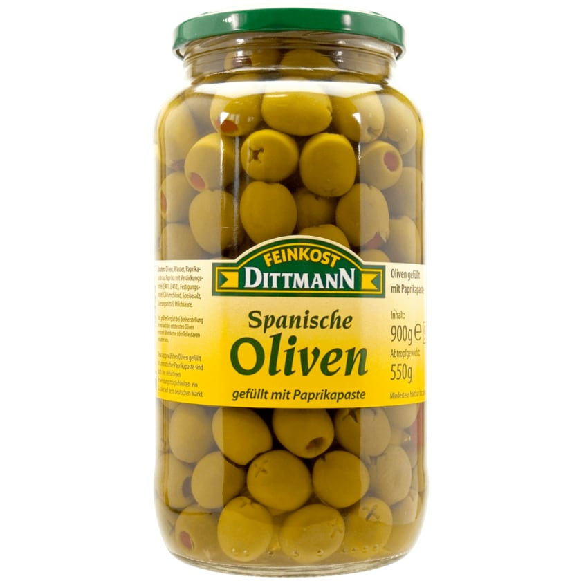Feinkost Dittmann Spanische grüne Oliven mit Paprikapaste 550g