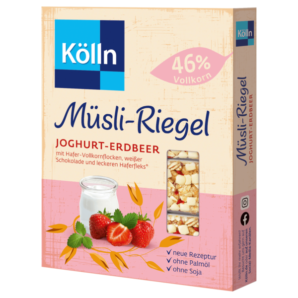 Kölln Müsli-Riegel Joghurt-Erdbeer 4x25g