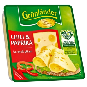 Grünländer Chili-Paprika Scheiben 140g