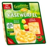 Grünländer Käsewürfel Mild & Nussig / Chili& Paprika 120g