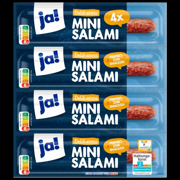 ja! Delikatess Mini-Salami 4x25g