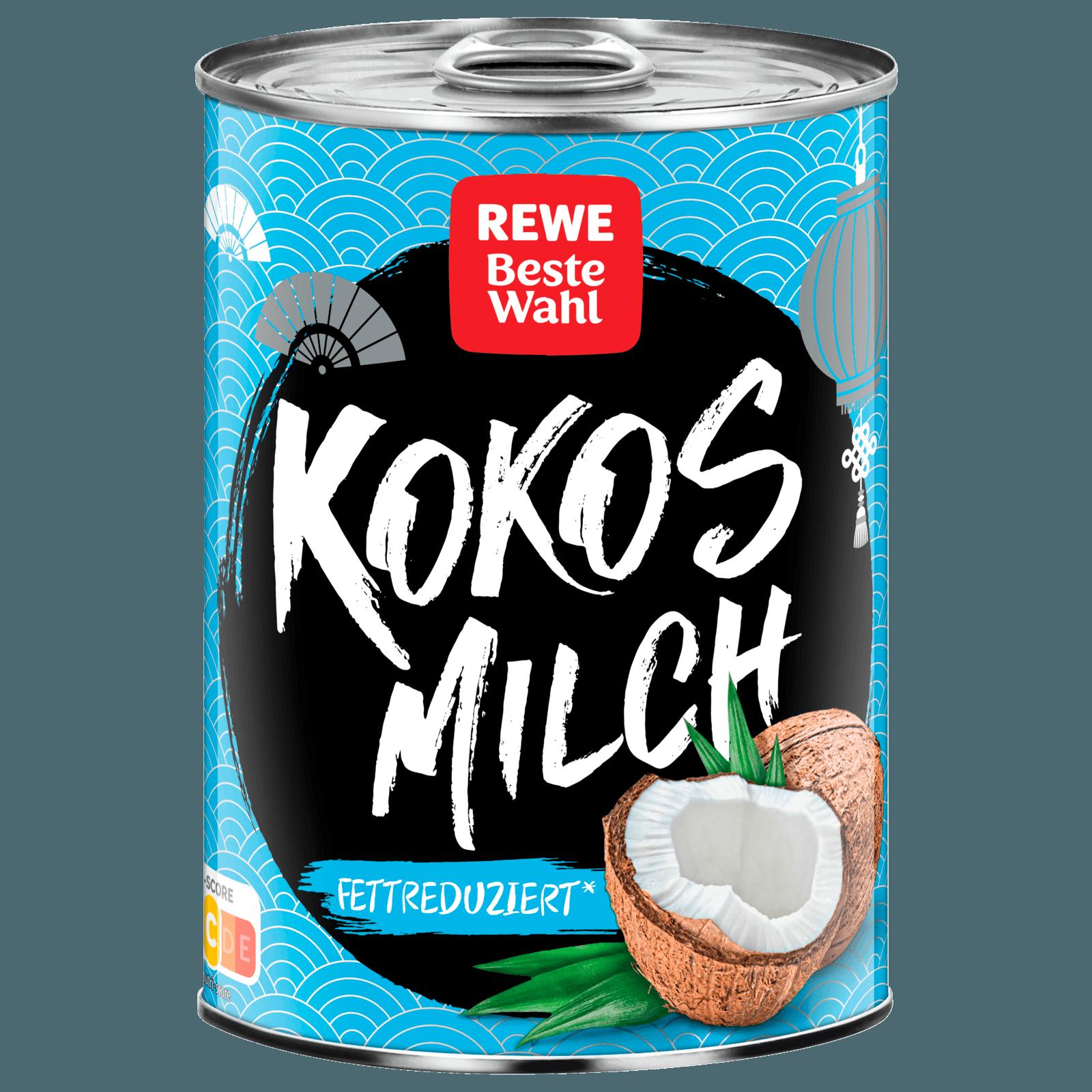Rewe Beste Wahl Kokosmilch Fettreduziert 400ml Bei Rewe Online
