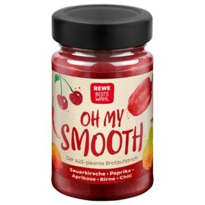 REWE Beste Wahl Oh My Smooth Sauerkirsche Paprika Aprikose Birne Chili 240g