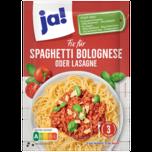 ja! Fix Saucenpulver für Spaghetti Bolognese oder Lasagne 45g