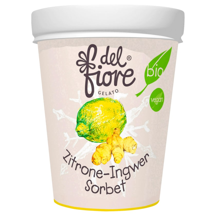 Del Fiore Gelato Bio Zitrone-Ingwer-Sorbet 500ml