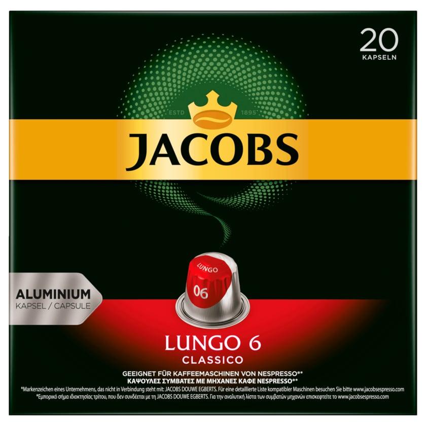 Jacobs Kaffeekapseln Lungo 6 Classico, 20 Nespresso kompatible Kapseln