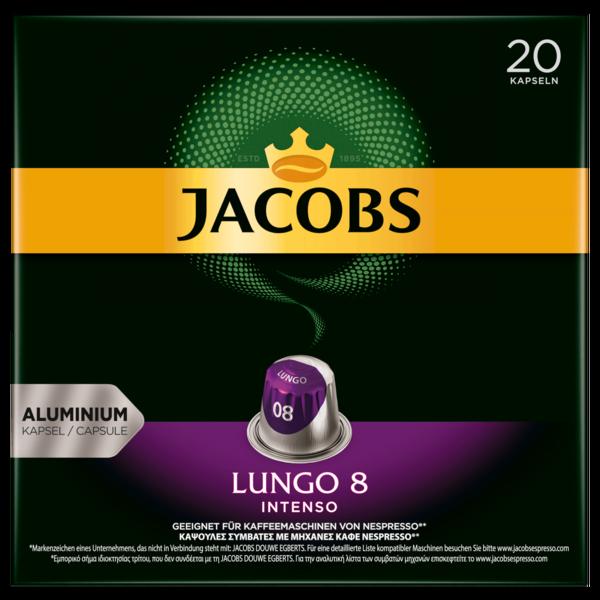 Jacobs Kaffeekapseln Lungo 8 Intenso, 20 Nespresso kompatible Kapseln
