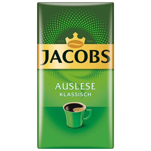 jacobs auslese klassisch kaffee gemahlen 500g bei rewe online bestellen. Black Bedroom Furniture Sets. Home Design Ideas