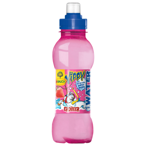 Rauch Yippy Water Erdbeere 0,33l