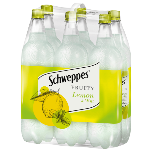 Schweppes Fruity lemon & mint 6x1l