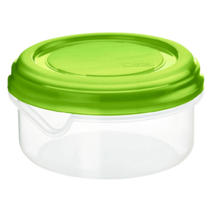 Rotho Kühlschrankdose Rondo Rund Flach Apple Grün 400ml