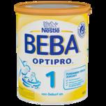 Nestlé Beba Optipro 1 Anfangsmilch von Geburt an Pulver 800g wiederverschließbar mit praktischer Löffelablage