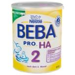 Nestlé Beba Pro Ha 2 Folgenahrung nach dem 6. Monat Folgenahrung mit hydrolysiertem Eiweiß Pulver 800g wiederverschließbar mit praktischer Messlöffelablage