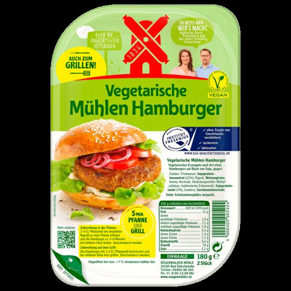 Rügenwalder Mühle Vegetarische Mühlen Hamburger vegan 180g