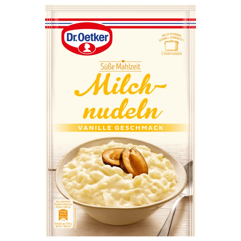 Dr. Oetker Milchnudeln Vanille-Geschmack 116g