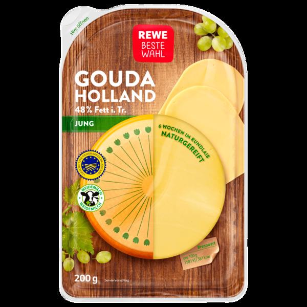 REWE Beste Wahl Gouda Jung Scheiben 200g