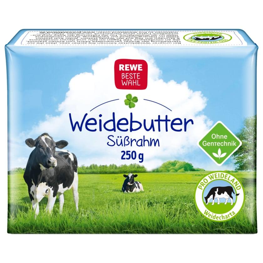 REWE Beste Wahl Weidebutter Süßrahm 250g