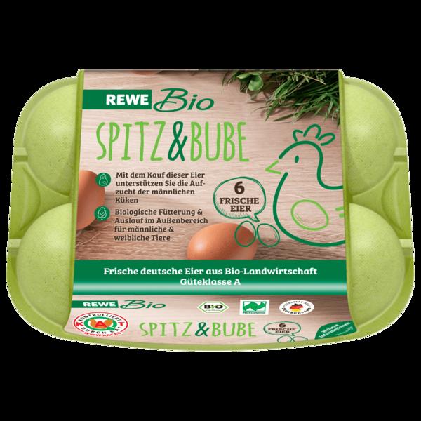 REWE Bio Eier Spitz und Bube 6 Stück