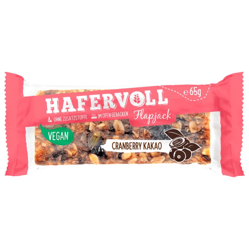 Hafervoll Flapjack Cranberry Kakao vegan 65g