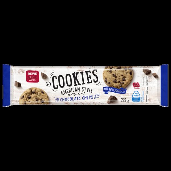 REWE Beste Wahl Cookies American Style Chocolate Chips 225g